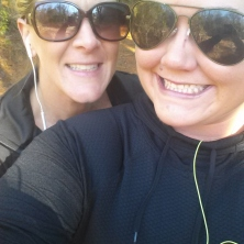 Amy and Jen training for 5K race
