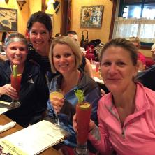 Post-race brunch with mimosas and bloody marys... we earned it!