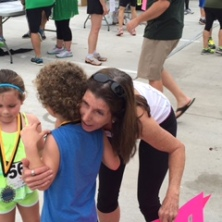 Post Race hugs from Paula