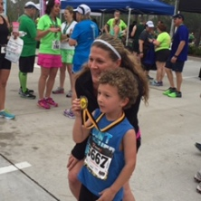 Amy and Silas post race