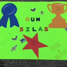 Run Silas Cheering Poster